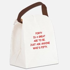 forty Canvas Lunch Bag