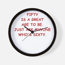 fifty Wall Clock