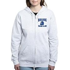 Blue Logo- Women's Zip Hoodie