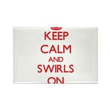 Keep Calm and Swirls ON Magnets