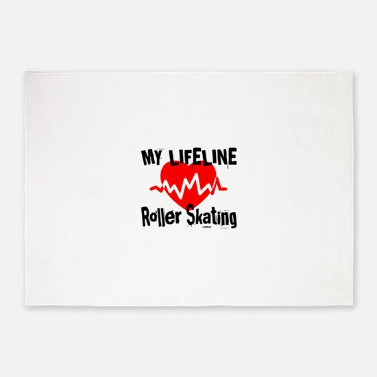 My Life Line Roller Skating 5'x7'Area Rug