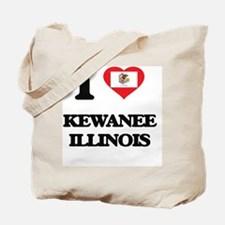 I love Kewanee Illinois Tote Bag