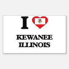 I love Kewanee Illinois Decal