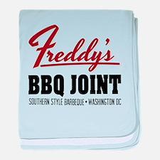 Freddy's BBQ Joint Washington DC baby blanket