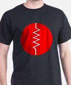 Circled Resistor Symbol - Red T-Shirt