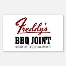 Freddy's BBQ Joint Washington DC Decal