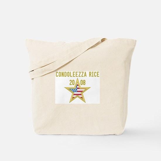 CONDOLEEZZA RICE 08 (gold sta Tote Bag