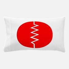 Circled Resistor Symbol - Red Pillow Case