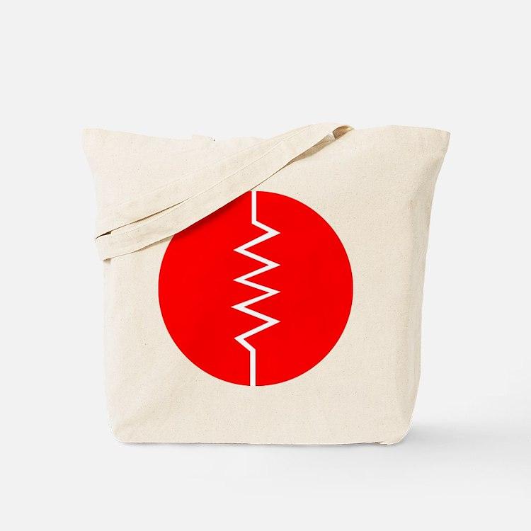 Circled Resistor Symbol - Red Tote Bag