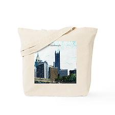 Pittsburgh, PA Sketch Tote Bag