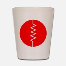 Circled Resistor Symbol - Red Shot Glass