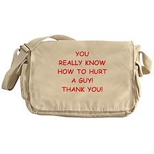 hurt me Messenger Bag