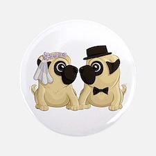 Wedding Pugs Button