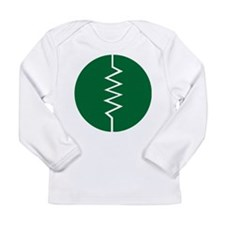 Circled Resistor Symbol Long Sleeve T-Shirt