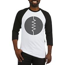 Circled Resistor Symbol - Gray Baseball Jersey