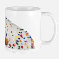 white rainbow sprinkles donut photo Mugs