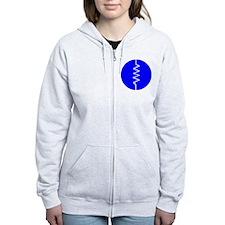Circled Resistor Symbol Zip Hoodie