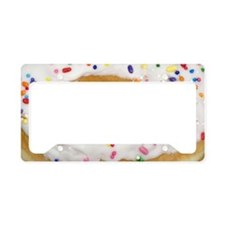 white rainbow sprinkles donut License Plate Holder