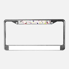 white rainbow sprinkles donut License Plate Frame