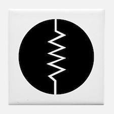 Circled Resistor Symbol Tile Coaster