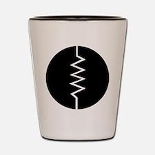 Circled Resistor Symbol Shot Glass