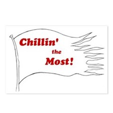 chillin the most flag  Postcards (Package of 8)