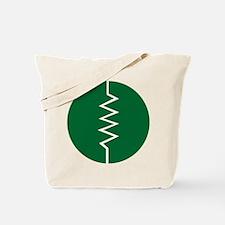 Circled Resistor Symbol - Dark Green Tote Bag