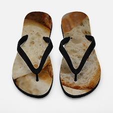 Artisan Bread Slices Flip Flops