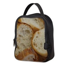 Artisan Bread Slices Neoprene Lunch Bag