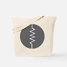 Circled Resistor Symbol - Gray Tote Bag