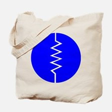 Circled Resistor Symbol - Blue Tote Bag