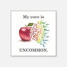 """Unique Uncommon Square Sticker 3"""" x 3"""""""