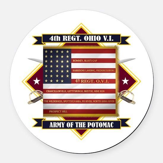 4th Ohio Volunteer Infantry Round Car Magnet