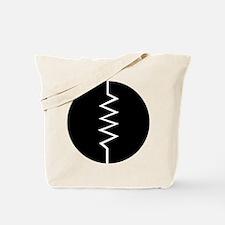 Circled Resistor Symbol - Black Tote Bag