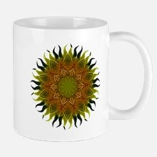 Yellow Fractal Wildflower Sunburst Mug