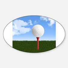 Golf Ball on Tee with Sky a Decal