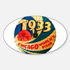 1933 Chicago Worlds Fair Pa Decal