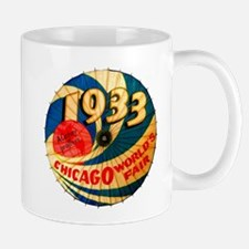 1933 Chicago Worlds Fair Parasol Advertising Mugs