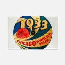 1933 Chicago Worlds Fair Parasol Advertisi Magnets