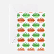 Macaron Cartoon Pattern Greeting Cards