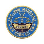 USS JOHN MARSHALL Button