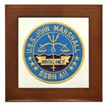 USS JOHN MARSHALL Framed Tile