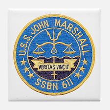 USS JOHN MARSHALL Tile Coaster