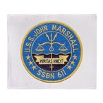USS JOHN MARSHALL Throw Blanket