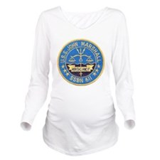 USS JOHN MARSHALL Long Sleeve Maternity T-Shirt
