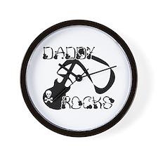 DADDY ROCKS! Wall Clock