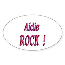 Aidis Rock ! Oval Decal