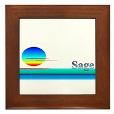 Sage Framed Tile