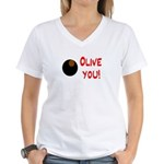 OLIVE YOU Women's V-Neck T-Shirt