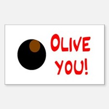 OLIVE YOU Rectangle Decal